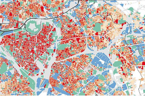 Cartographie des îlots de chaleur à Lille - Adulm